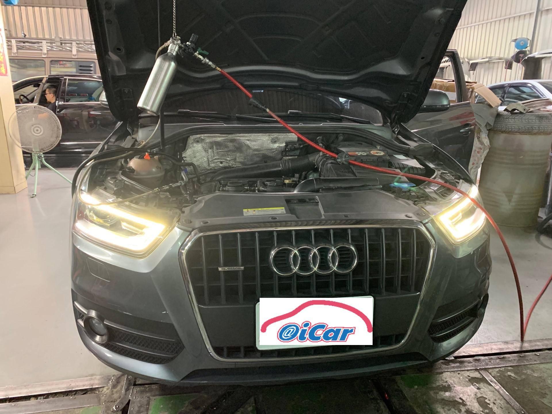 【振傑汽車】奧迪/AUDI Q3 定期保養#保養項目#清洗空氣芯#引擎保護劑#德國油路清洗劑