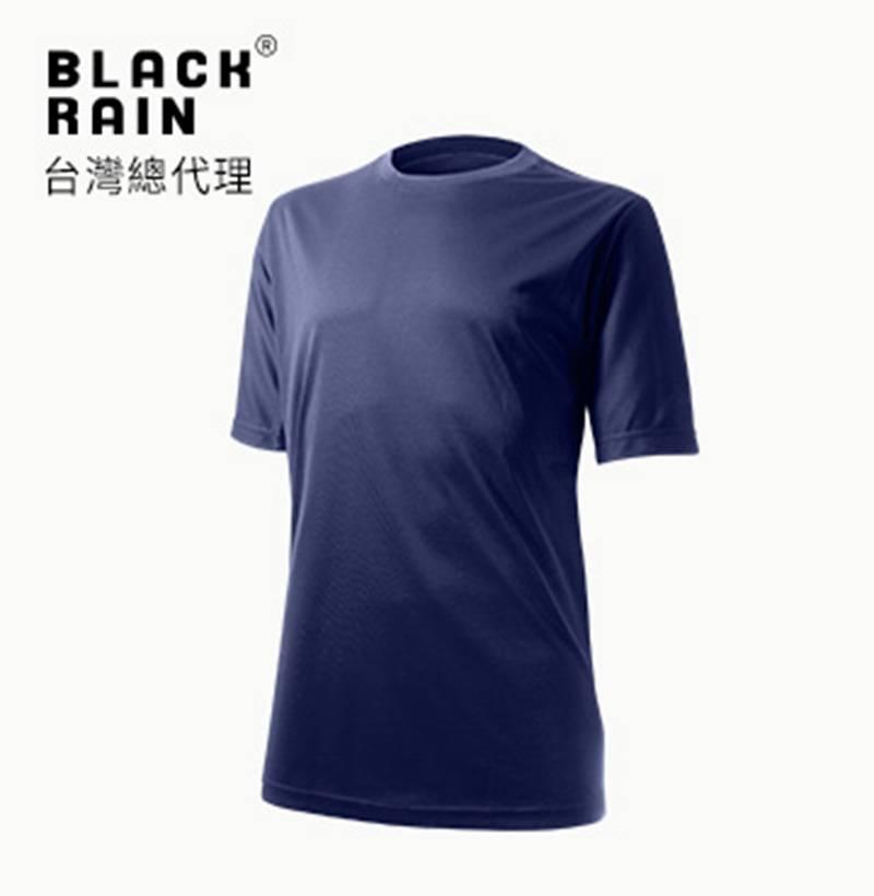 【荷蘭Black Rain】圓領排汗短袖上衣 BR-6ADF3 (5000 深藍)