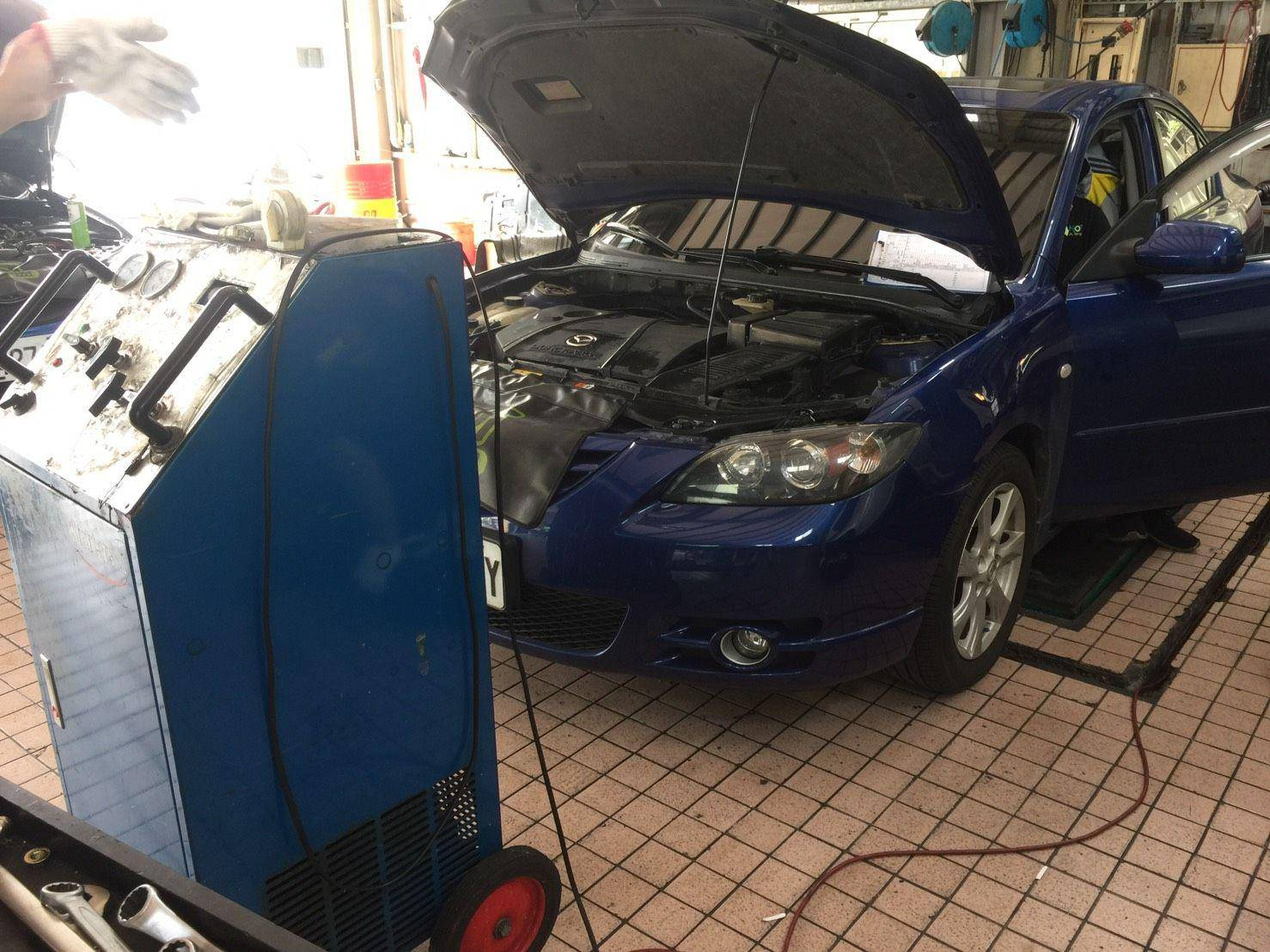 【賽特汽車】馬自達/MAZDA M3 汽車冷氣壞掉#汽車冷媒#更換冷凍油#日系專修廠