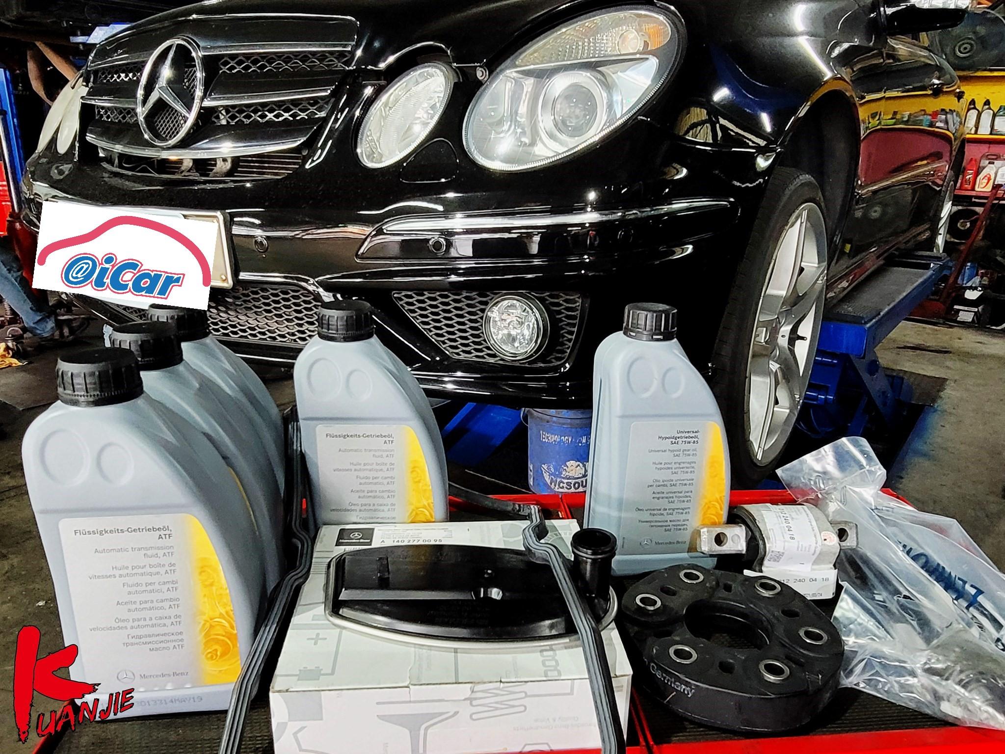 【冠傑汽車】賓士/BENZ W211 E500/變速箱換檔頓挫感#底盤抖動問題#原廠變速箱油網#六腳橡皮#變速箱腳#差速器油#OiCar新北市三重區推薦汽車保養維修線上預約保障服務