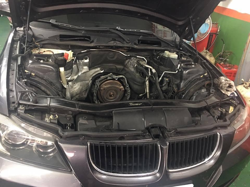 【鉦宏汽車】寶馬/BMW E90 引擎漏油問題#吃機油#漏水處理#引擎大修整理