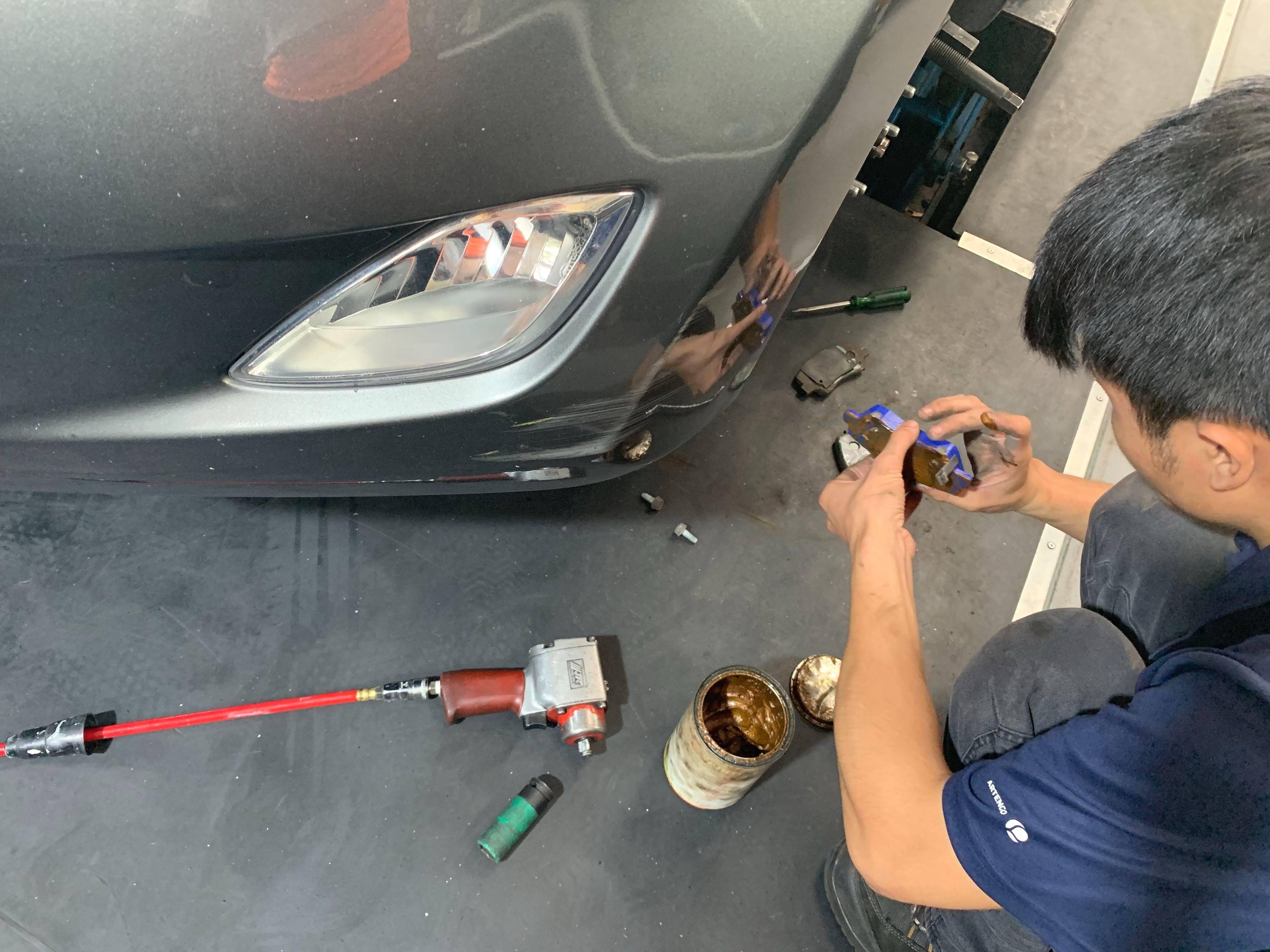【振傑汽車】現代/HYUNDAI Elantra 煞車來令更換#煞車異音#煞車系統#換煞車皮