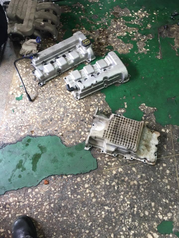 【鉦宏汽車】馬自達/MAZDA MPV3.0 引擎嚴重漏油#機油不足#漏油問題修復