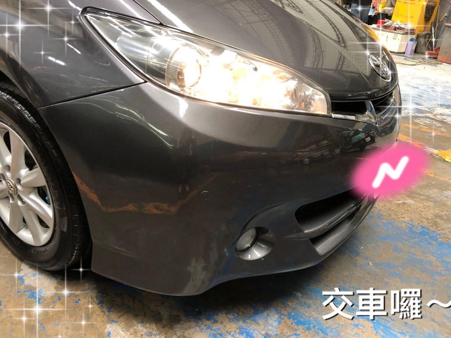 【壢威汽車】豐田TOYOTA WISH  車輛鈑金烤漆修復