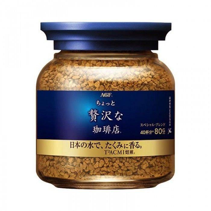 日本 AGF 奢華香醇咖啡80g-藍罐