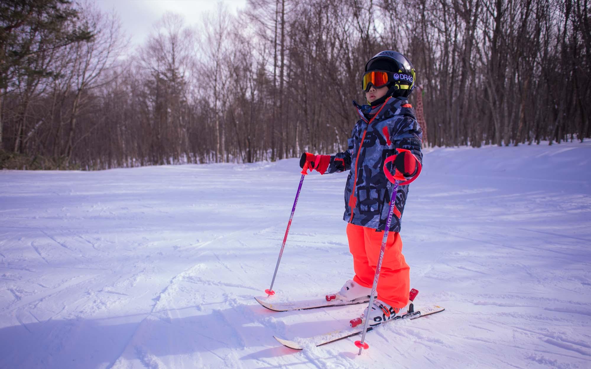 在台灣學會滑雪