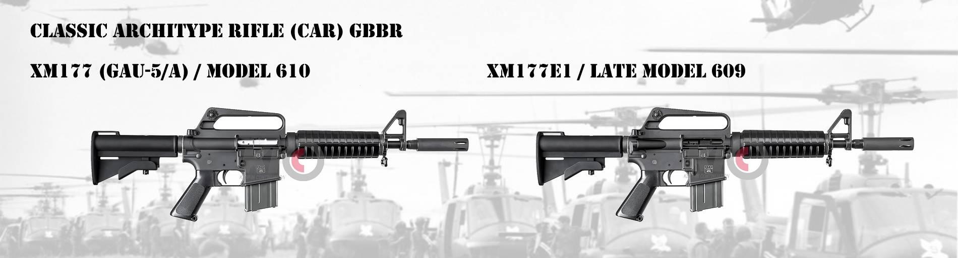 Classic Archetype Rifle XM177 & XM177E1 GBBR