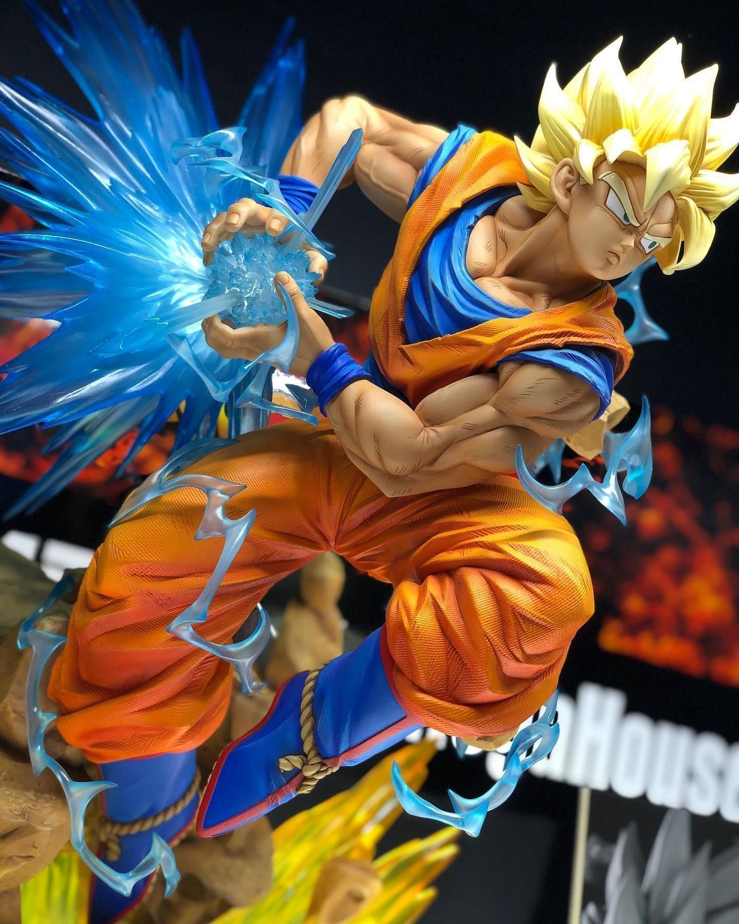 Dragon Ball Z Son Gokou Super Saiyan Action Figure Statues Toys Anime Manga