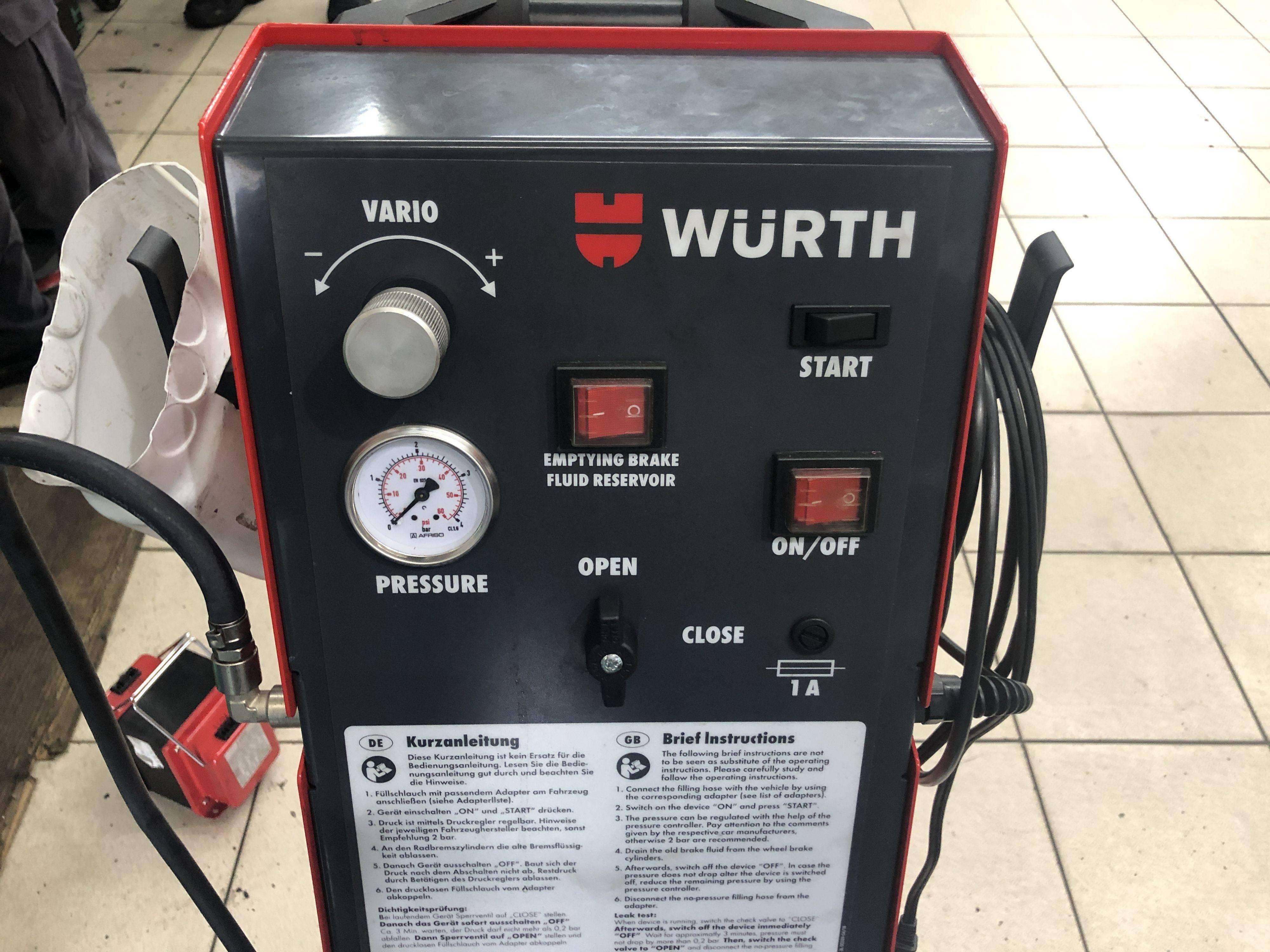 德國進口WURTH脈衝式煞車油更換設備