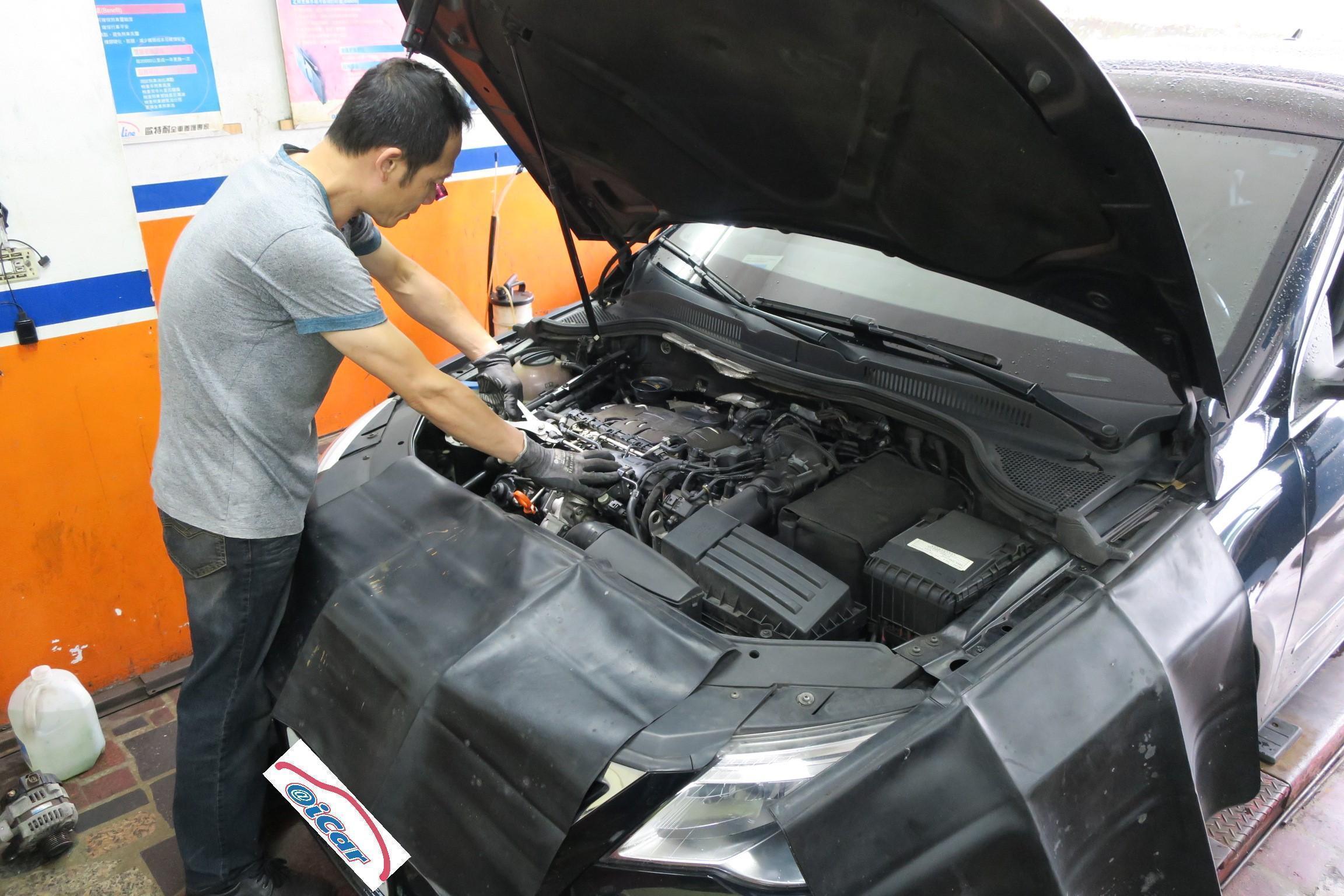 VW PASSAT引擎點火系統查修情況。