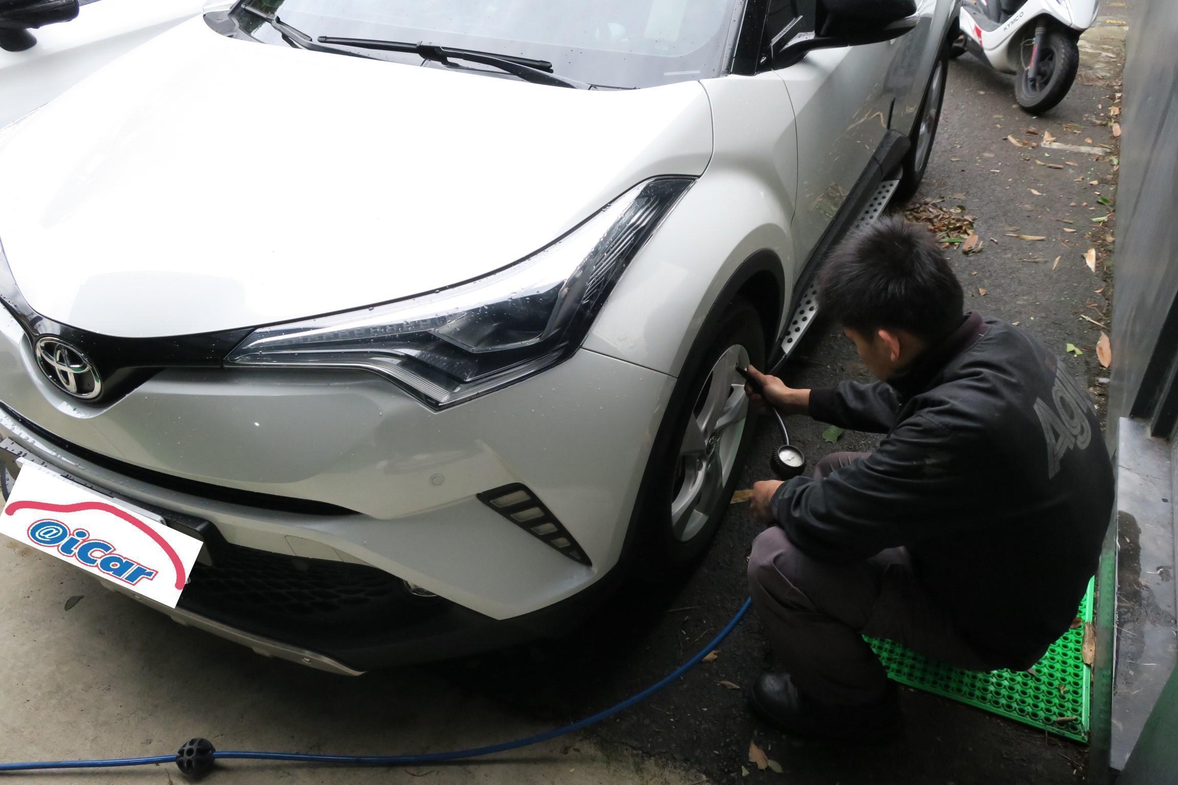 TOYOTA CH-R車輛保養完成後進行車輛健檢情況。