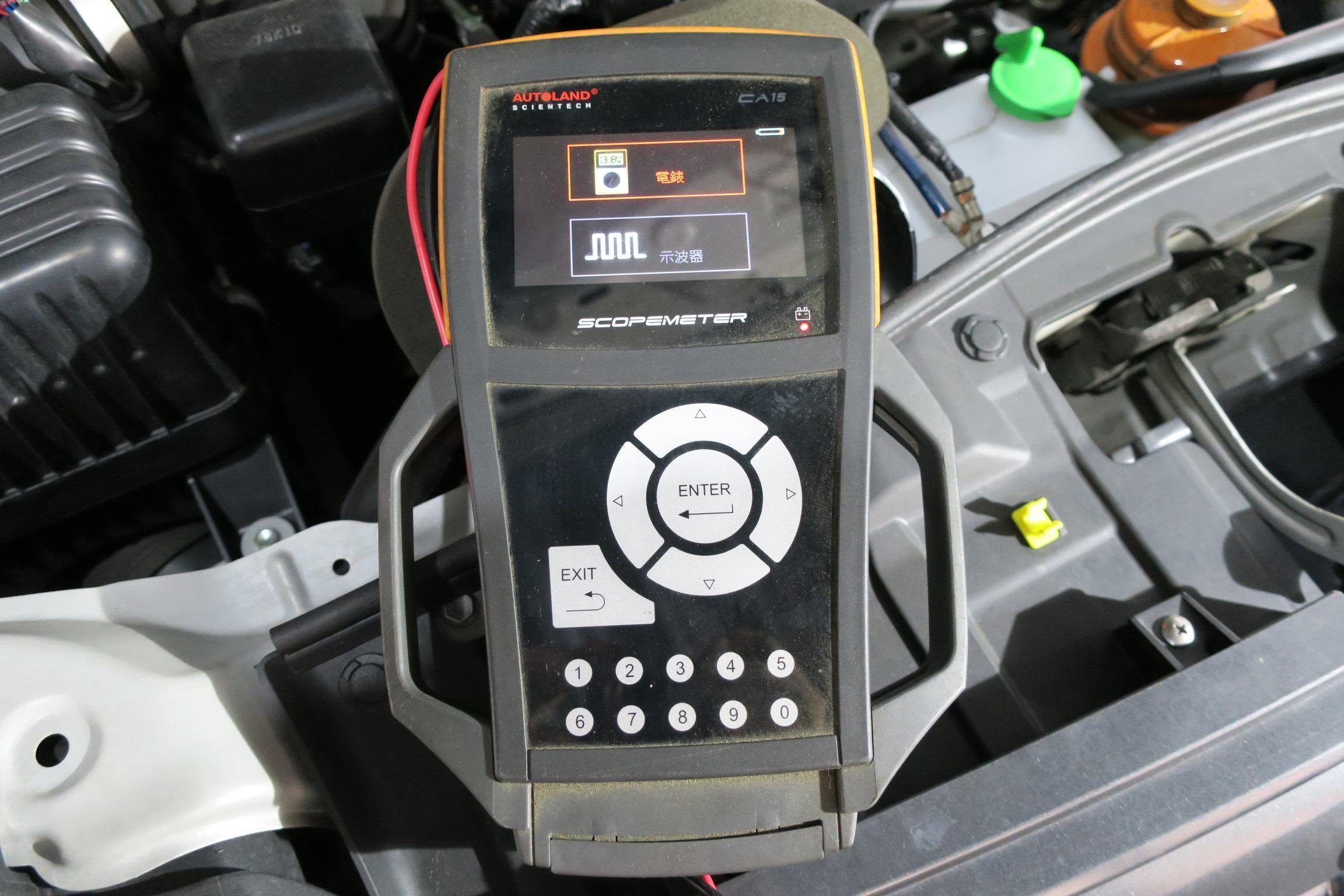 (圖19)AUTOLAND線路查修示波器設備。