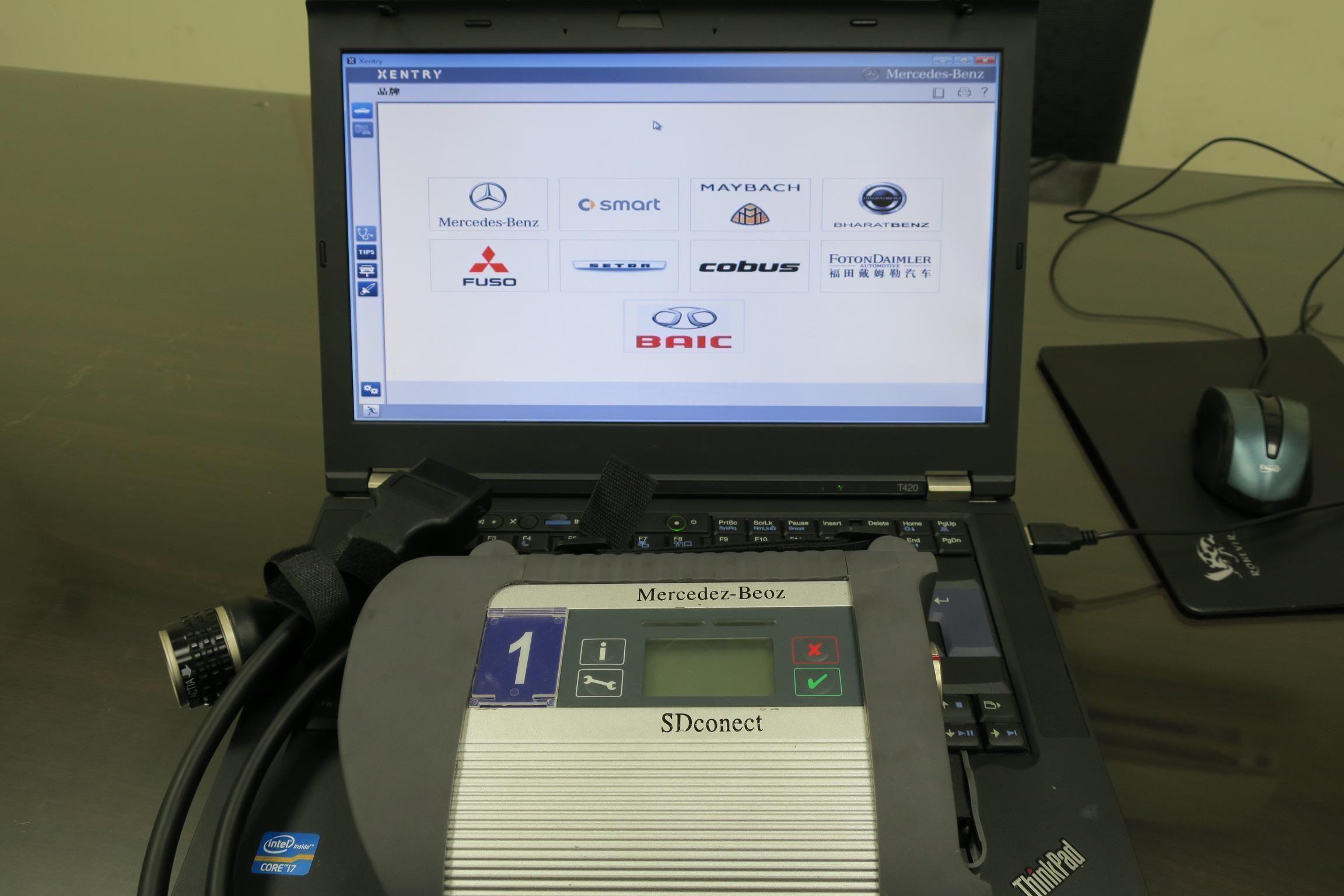 OiCar速得安保修團隊BENZ原廠工程版診斷電腦統。