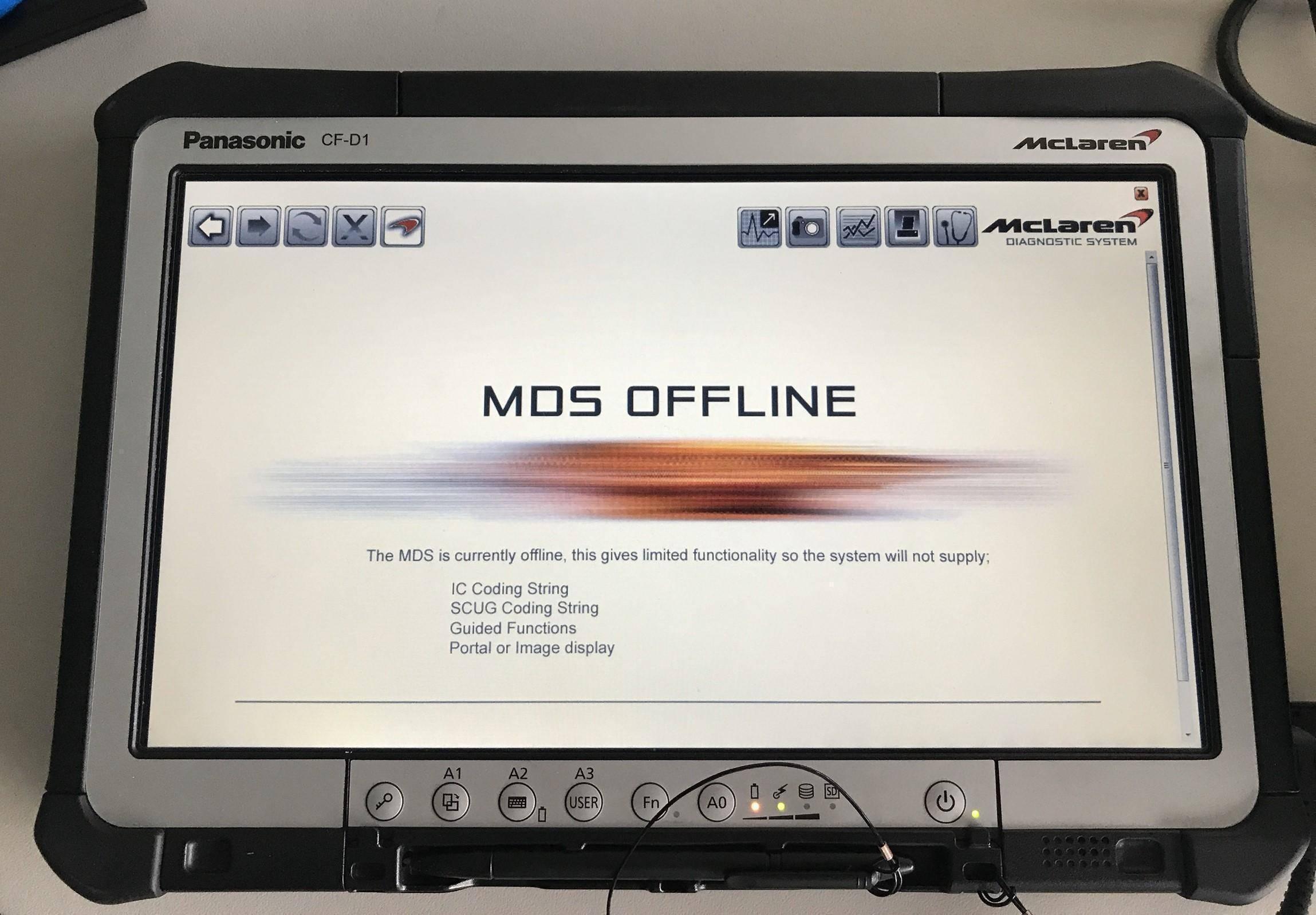MCLAREN原廠工程版診斷電腦系統。