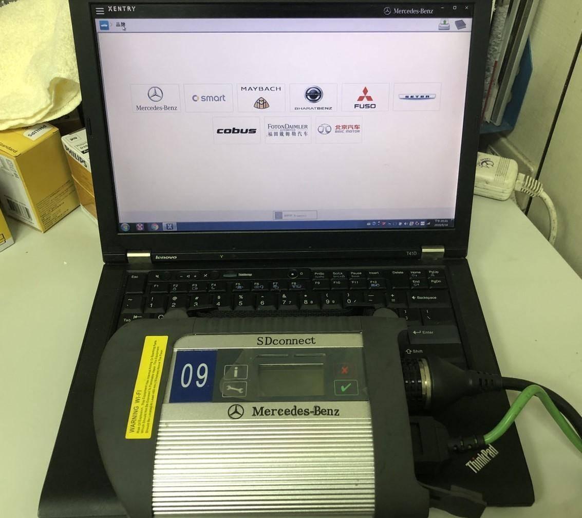 BENZ原廠工程版診斷電腦系統。